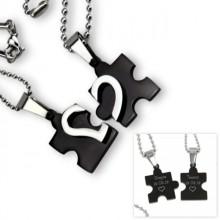 Partnerkette Herz Puzzle