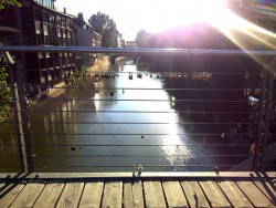 Liebesschlösser an der Cine-Brücke in Nürnberg